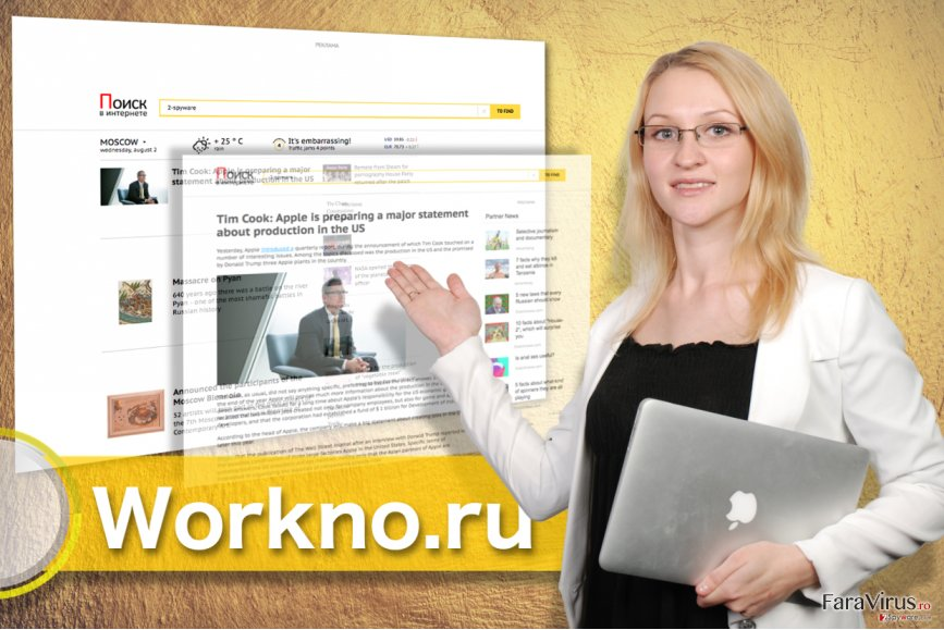 Virusul Workno.ru captură de ecran