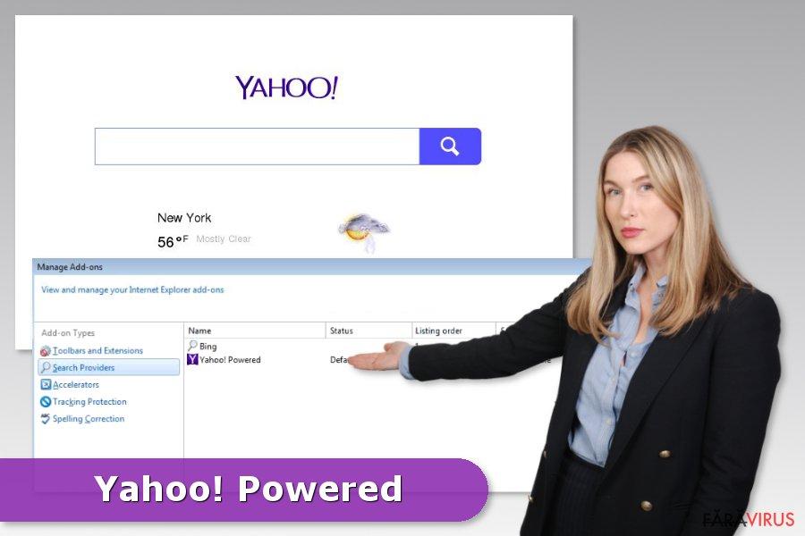 Exemplu al infecţiei Yahoo Powered