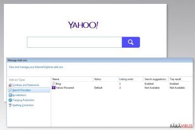 Imaginea virusului Yahoo Powered