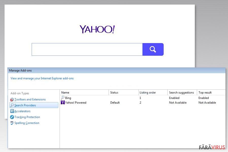 Image of Yahoo Powered virus