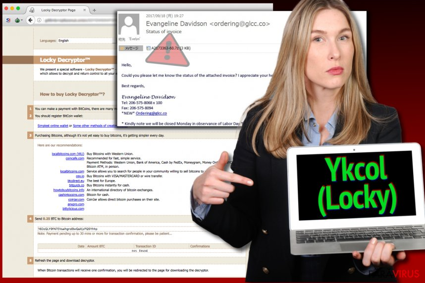 Virusul Locky se numeşte acum Ykcol