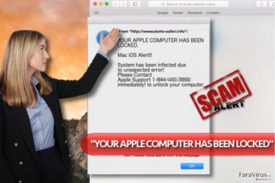 """Virusul """"YOUR APPLE COMPUTER HAS BEEN LOCKED"""""""