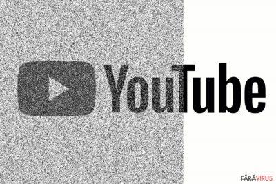 Imagine ce reflectă un site YouTube corupt